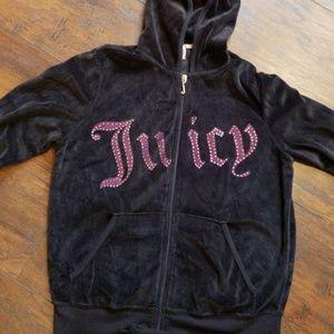 Black Juicy velour jumpsuit XL